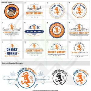 Cheeky Monkey logos